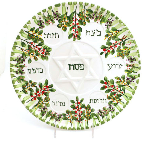 Floral Seder Plate with Dishes