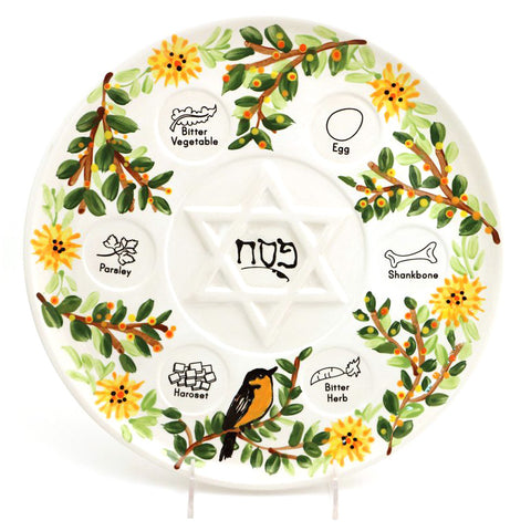 Goldfinch Seder Plate with Dishes