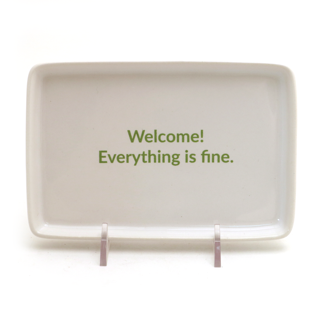 The Good Place, welcome sign, ceramic tray