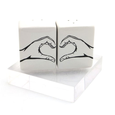 Hand Heart Salt and Pepper Set