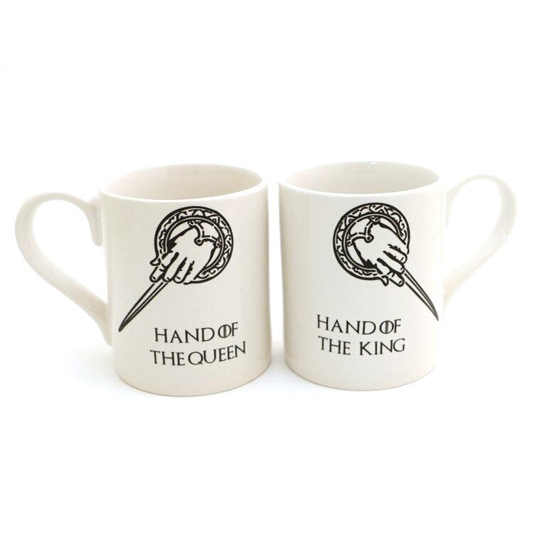 Hand of the King, Hand of the Queen - Game of Thrones Mug Set