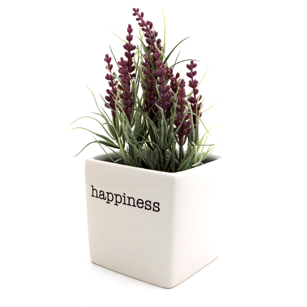 Happiness planter, candle holder, pencil cup, square pot