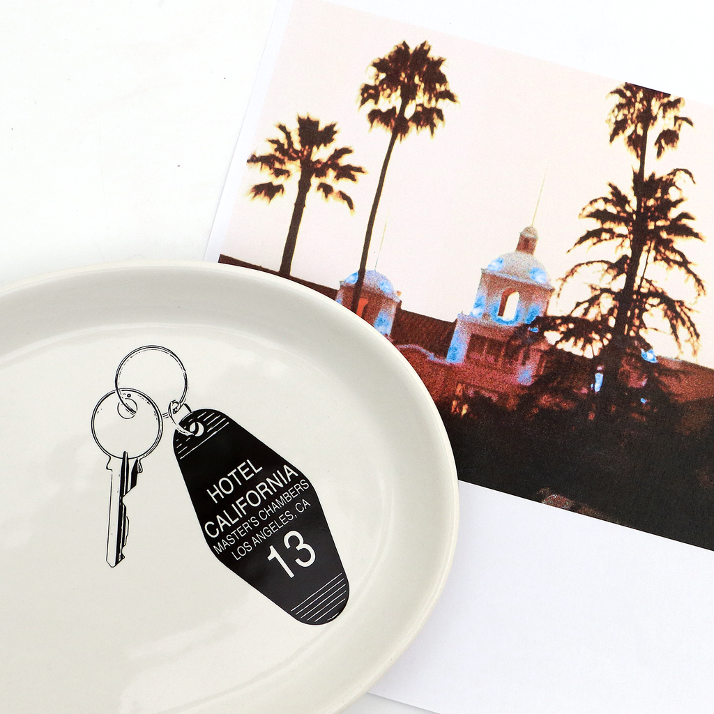 Hotel California key plate