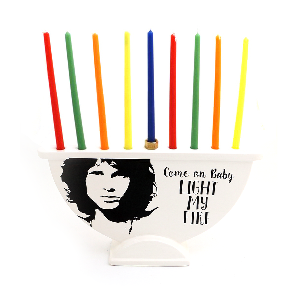 Menorah Jim Morrison from The Doors Light My Fire