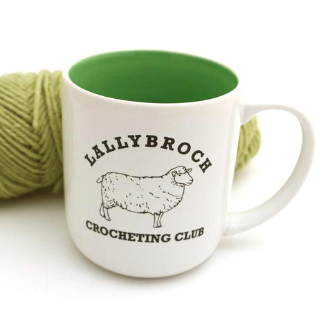 Lallybroch Crocheting Club Mug