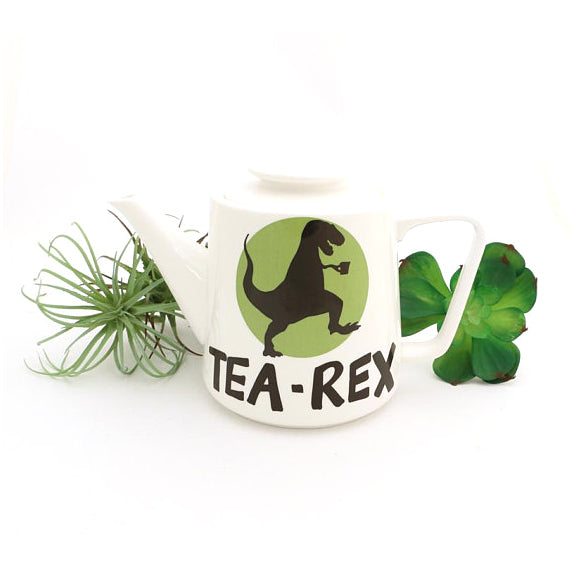Rawr means it's time for a cuppa! Dinosaur and pun lovers will enjoy serving their favorite tea in