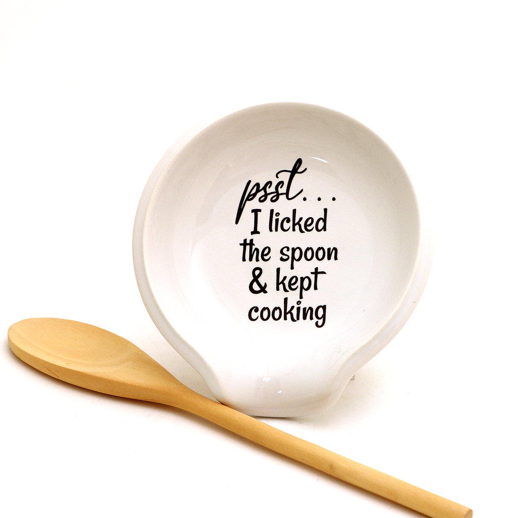 Psst... I Licked the Spoon Spoon Rest, funny spoonrest