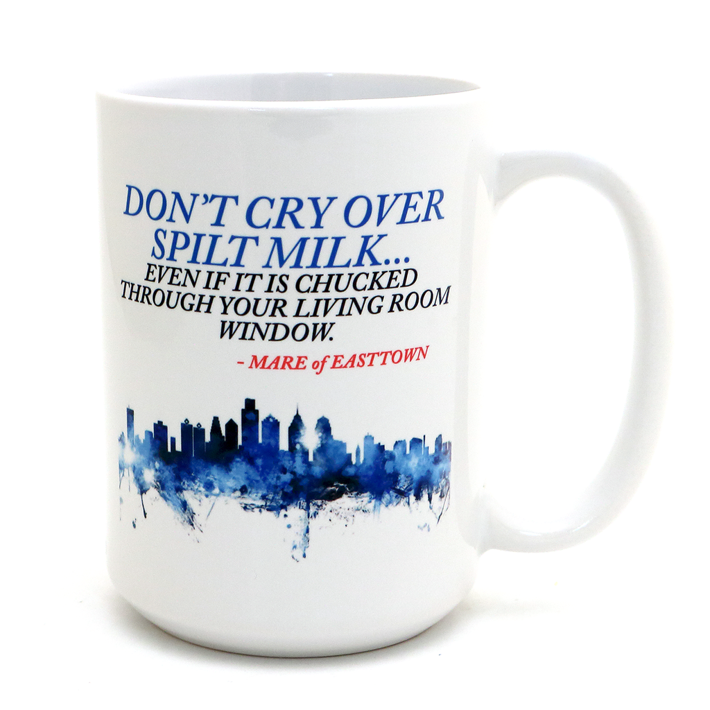 Custom fandom mug - graphic plus quote