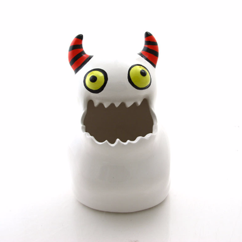 Monster pot, monster art and collectibles, ceramic monster, pencil cup, brush holder, planterHere's