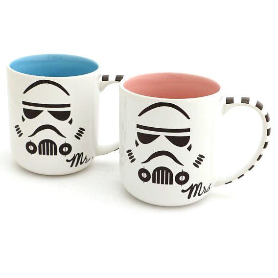 The force is strong with this listing! This is a one of a kind set of stoneware mugs, handmade by