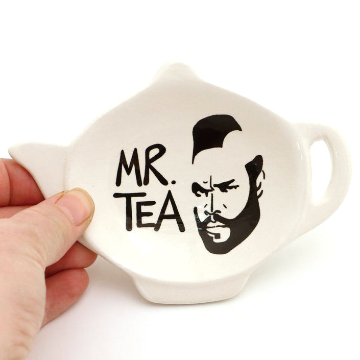 Mr T Teapot Tea bag holder shaped like a teapot. One of a kind handmade teabag holder shaped like