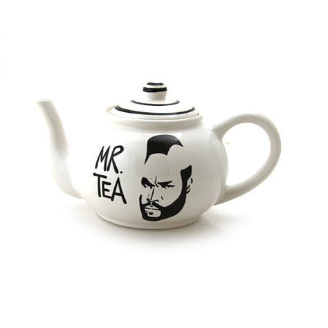 Mr. T Teapot, Mr. Tea pot, large ceramic teapot, home and living, teapots, tea sets, funny wedding