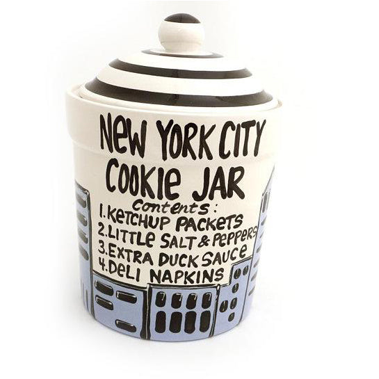 New York City Cookie Jar- READY TO SHIP! A classic piece by me, Lorrie Veasey, formerly of Our Na