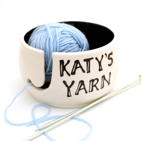 Personalized Yarn Bowl - Your Choice of Bowl Interior