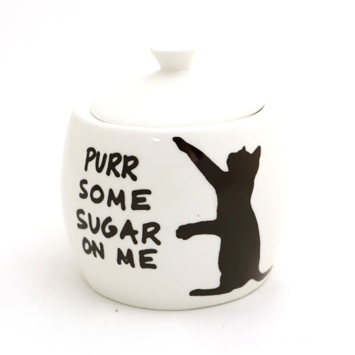 Purr some sugar on me sugar bowl is a great gift for any cat lover- we're not kitten! Upcycled fro