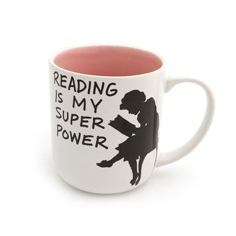 Reading is My Superpower Mug - Pink