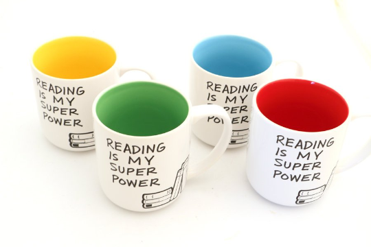 Reading is my Super Power Mug- can be personalized (read below for instructions, with your Xray vi