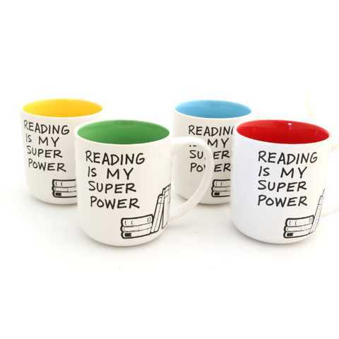 Reading is My Superpower Mug - Personalizable Choice of Color