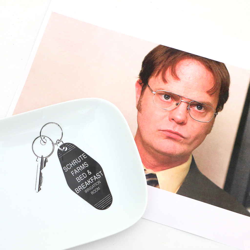 Schrute Farms key plate, The Office, Office fan art
