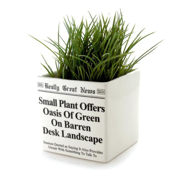 This square planter with funny headline would make a great gift for a co worker or friend- priced t