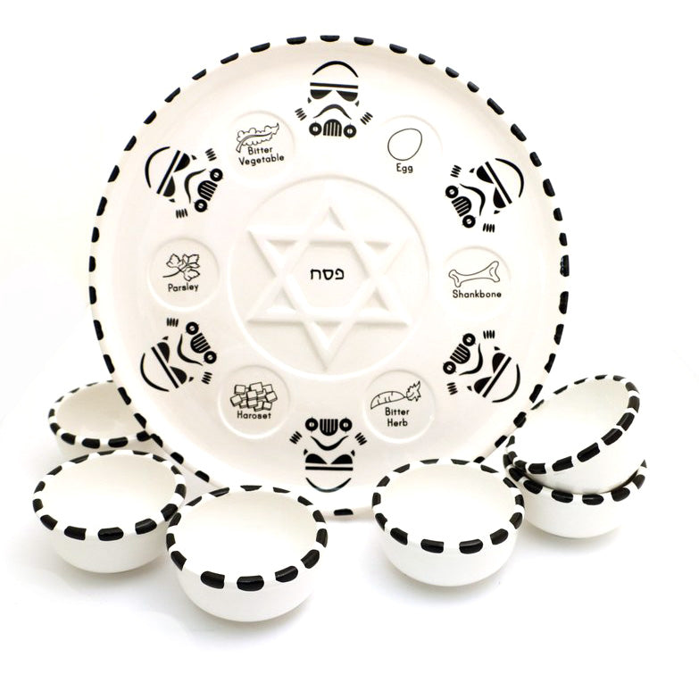 Storm Trooper Seder Plate with Bowls Set