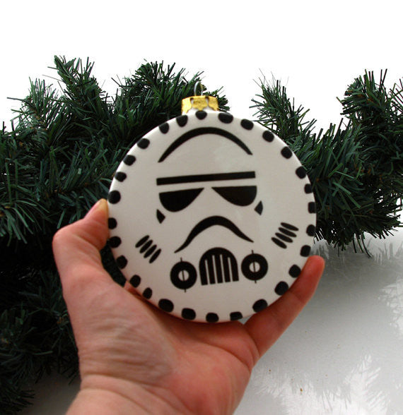 Christmas Ornament featuring an homage to the iconic Stormtrooper from the movie Star Wars (R)  T