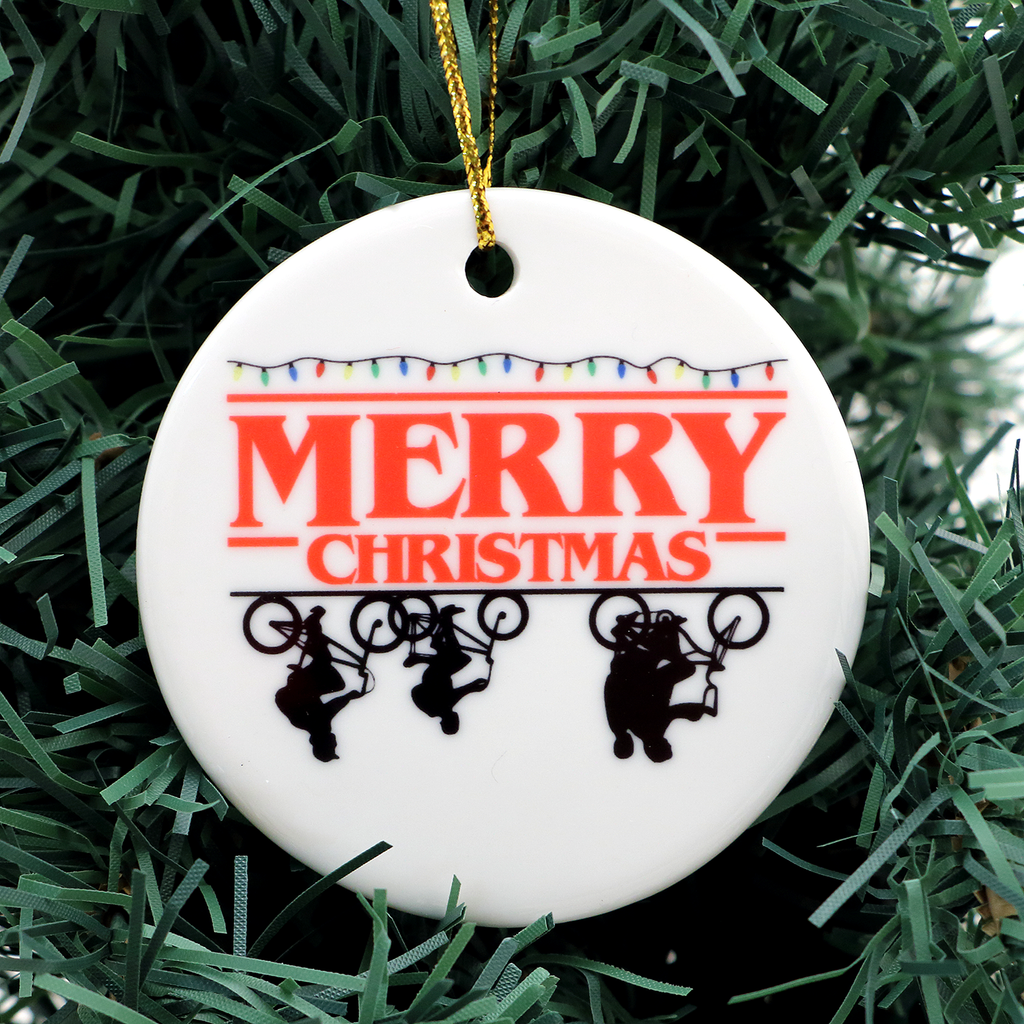 Upside Down Stranger Things Christmas Ornament