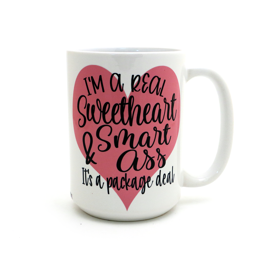 Sweartheart and Smart Ass Mug,  valentines day gift