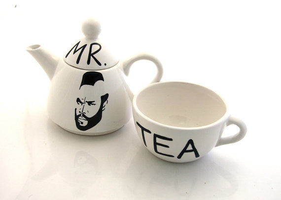 Mr Tea Tea for OneMr T Teapot Currently only available in whiteMr. T- or Mr Tea as i like to call h