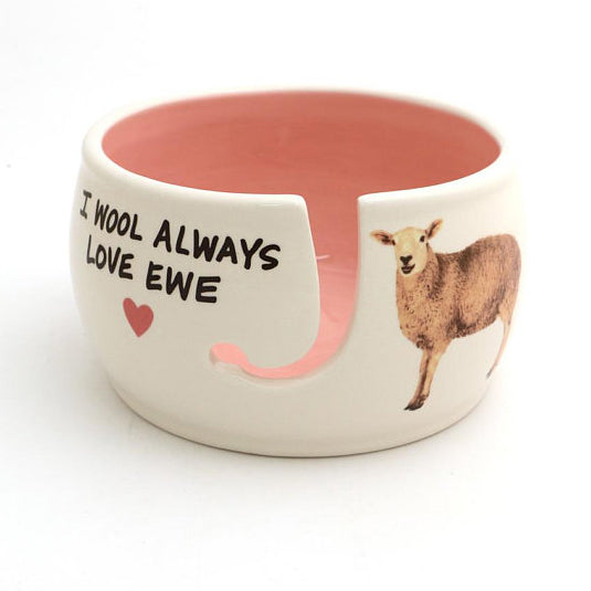 Very ewe-nique gift for someone who loves to knit or crochet! This large ceramic yarn bowl is crea