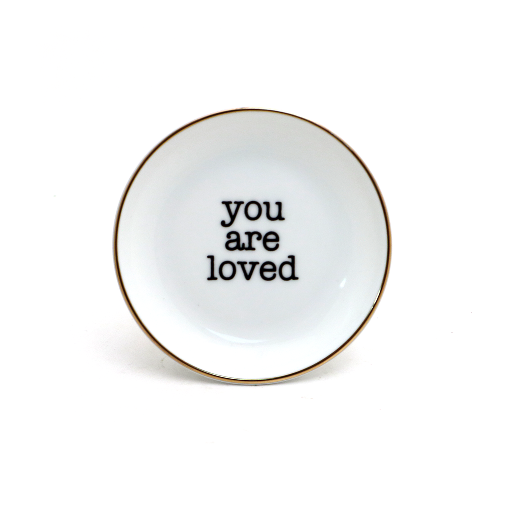 You Are Loved Ring Dish, GOLD, ring holder, trinket dish
