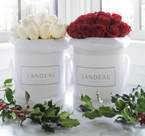 Holiday Rose Delivery, Flower delivery, Luxury roses in a box