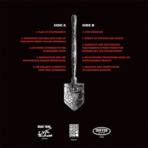 "Senior Fellows ""Shallow Grave For A Dying God"" LP - Dead Tank Records - 2"