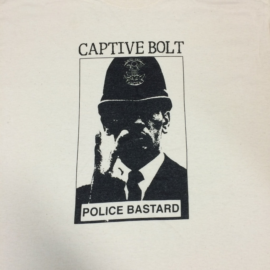 "Captive Bolt ""Police Bastard"" Shirt - Dead Tank Records - 1"