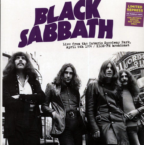 "Black Sabbath ""Live From The Ontario Speedway Park, April 6th 1974"" LP"