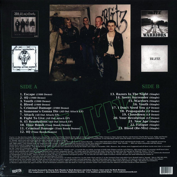 "Blitz ""Time Bomb: Early Singles And Demo Collection"" LP"