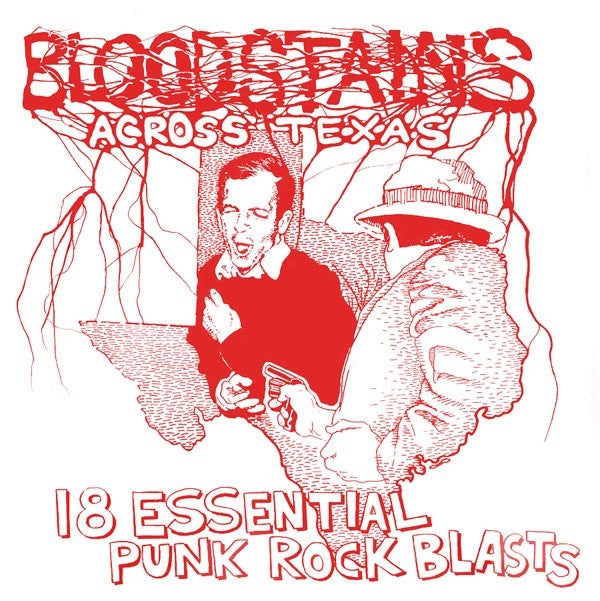 "V/A ""Bloodstains Across Texas"" LP - Dead Tank Records"
