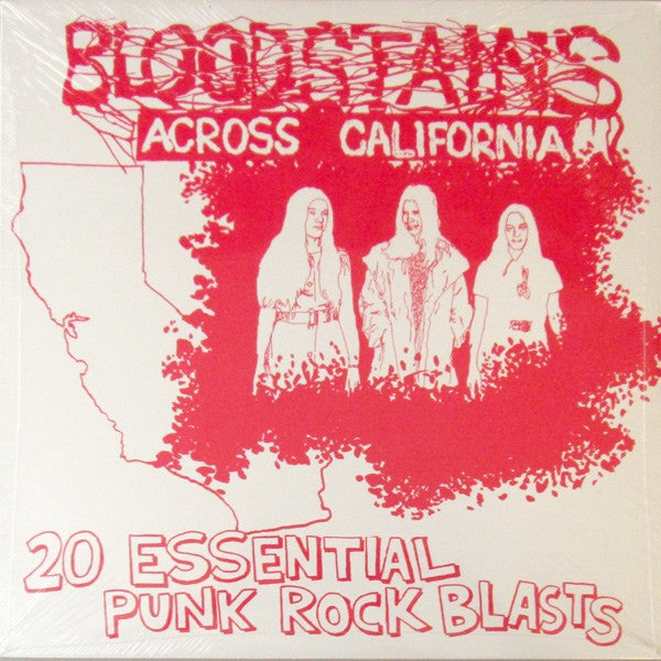 "V/A ""Bloodstains Across California"" LP - Dead Tank Records"