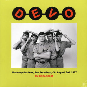 "Devo ""Mabuhay Gardens, San Francisco, CA. August 3rd, 1977"" LP"