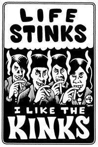 Life Stinks I Like The Kinks - Zine - Dead Tank Records