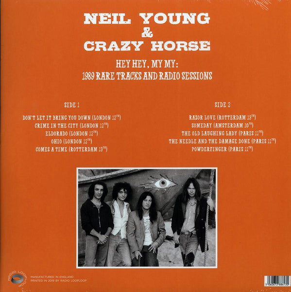 "Neil Young & Crazy Horse ""Hey Hey, My My: 1989 Rare Tracks And Radio Sessions"" LP"