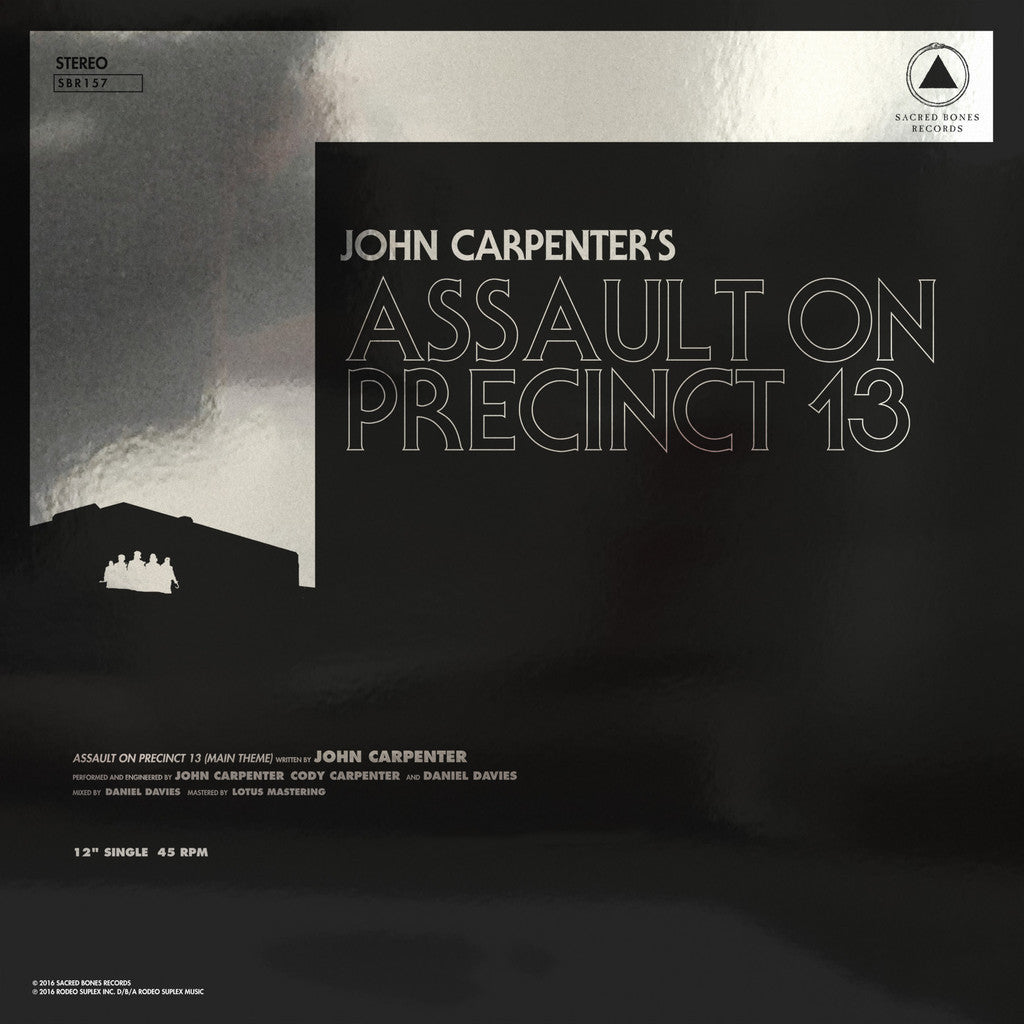 "Carpenter, John ""Assault on Precinct 13 b/w The Fog"" 12"" - Dead Tank Records"