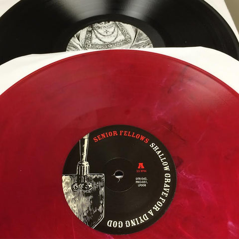 "Senior Fellows ""Shallow Grave For A Dying God"" LP - Dead Tank Records - 3"