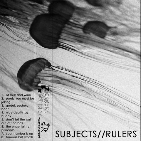 "Subjects Rulers ""s/t"" Tape - Dead Tank Records"