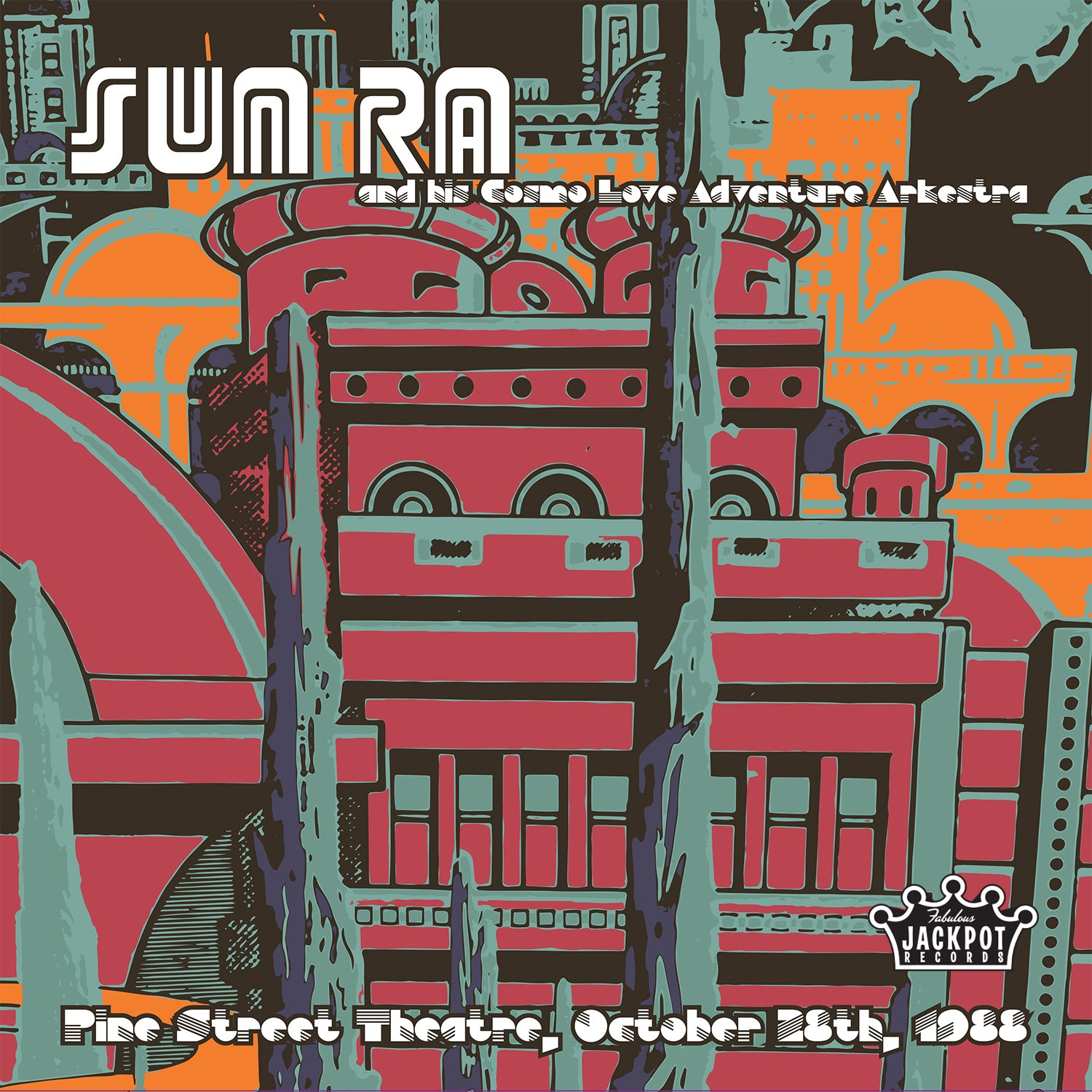 "Sun Ra ""Pine Street Theatre, Portland, OR, October 28, 1988"" 2xLP"