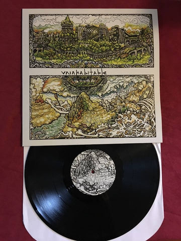 "Uninhabitable ""s/t"" LP - Dead Tank Records - 2"