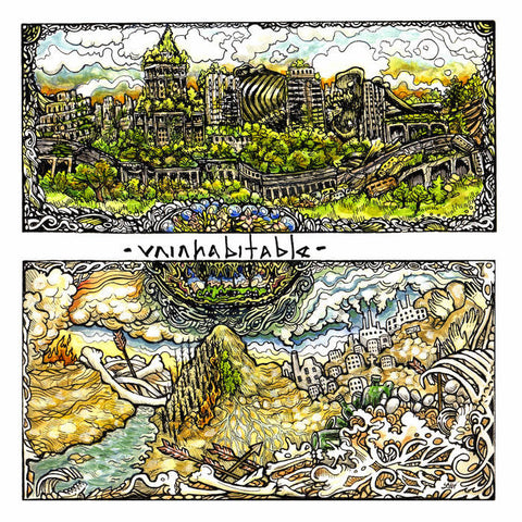 "Uninhabitable ""s/t"" CD/Tape - Dead Tank Records"