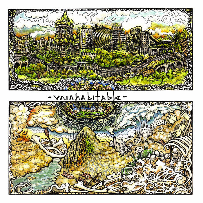 "Uninhabitable ""s/t"" LP - Dead Tank Records - 1"
