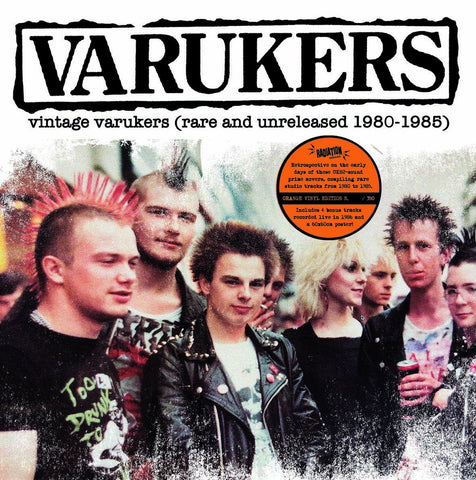 "Varukers ""Vintage Varukers (Rare and Unreleased 1980-1985)"" LP"
