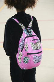 Graffiti Pink Backpack